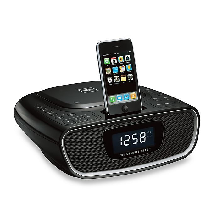 The Sharper Image Clock Radiocd Player Dock For Ipodiphone