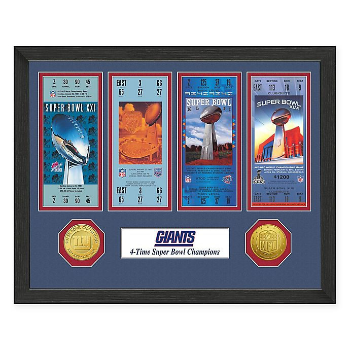 Alternate image 1 for NFL New York Giants Super Bowl Champions Ticket and Commemorative Coin Collection