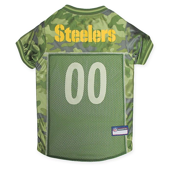 brand new 7eb30 1e759 NFL Pittsburgh Steelers Camo Pet Jersey | Bed Bath & Beyond