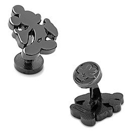 Disney® Black-Plated Mickey Mouse Silhouette Cufflinks