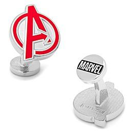 Marvel® Silvertone Round Avengers Logo Cufflinks
