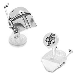 Star Wars™ Silver-Plated 3D Boba Fett Cufflinks
