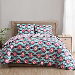 Clairebella Dreamcatcher Reversible Comforter Set in Aqua
