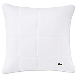 Lacoste™ Quilted Pique Square Throw Pillow in White