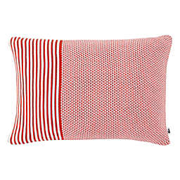 Lacoste Mariner Knit Oblong Throw Pillow in Fiesta