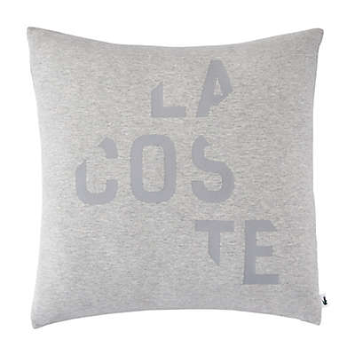 Lacoste Broken Logo Square Throw Pillow in Grey