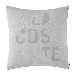 Lacoste Broken Logo Square Throw Pillow in Grey