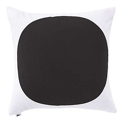 Lacoste Big Dot Square Throw Pillow in White