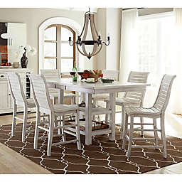 Willow Rectangular Counter Height Dining Table in Distressed White