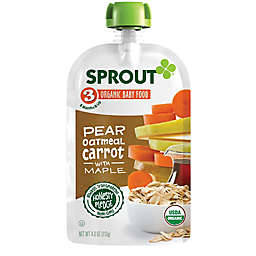 Sprout® 4 oz. Stage 3 Organic Baby Food in Pear, Carrot and Oatmeal with Maple