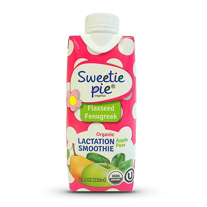 Alternate image 1 for Sweetie Pie® Organic 11.1 oz. Flaxseed Fenugreek Apple Pear Lactation Smoothie
