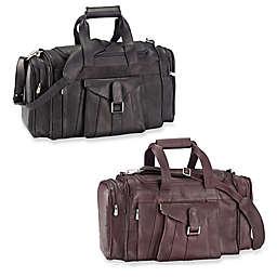 Piel® Leather Buckle Flap-Over 19.25-Inch Satchel Duffel Bag