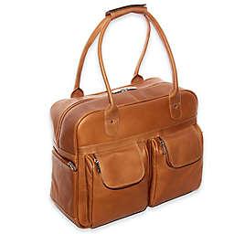 Piel® Leather Multi-Pocket 15-Inch Satchel Duffel Bag