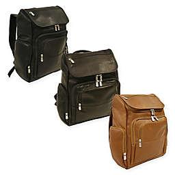 Piel® Leather Multi-Pocket Laptop Case