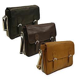 Piel® Leather Classic Expandable Messenger Bag