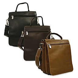 Piel® Leather Classic Double Flap-Over Shoulder Bag
