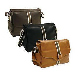 Piel® Leather European Messenger Bag