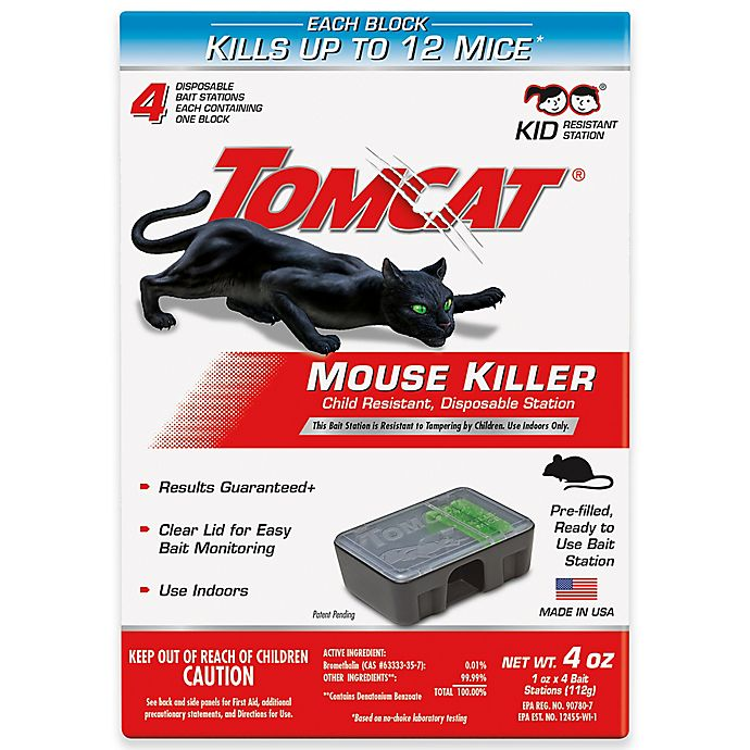 Alternate image 1 for Tomcat® 4-Pack Tier 3 Disposable Mouse Bait Station