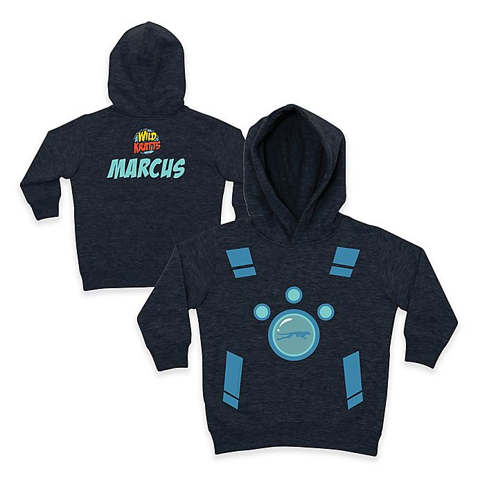 Alternate image 1 for Wild Kratts™ Leopard Pullover Hoodie in Charcoal/Blue