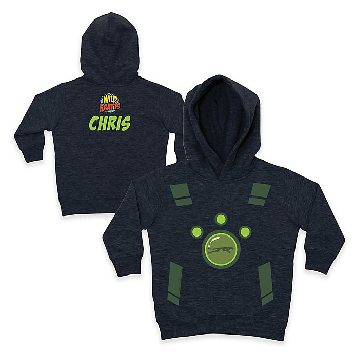 Alternate image 1 for Wild Kratts™ Leopard Pullover Hoodie in Charcoal/Green