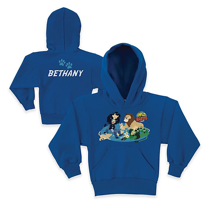 Alternate image 1 for Wild Kratts™ Lion Friends Pullover Hoodie in Blue