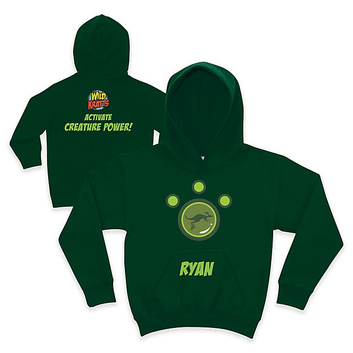 Alternate image 1 for Wild Kratts™ Kangaroo Pullover Hoodie in Forest Green