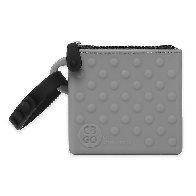 Alternate image 1 for chewbeads® CB Go Silicone Small Pouch in Grey