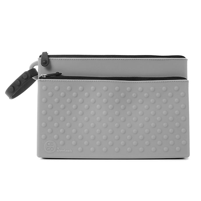 Alternate image 1 for chewbeads® CB Go Silicone Wipes Clutch in Grey