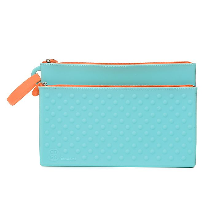 Alternate image 1 for chewbeads® CB Go Silicone Wipes Clutch in Turquoise