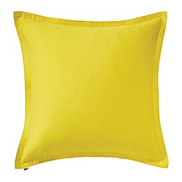 Lacoste Chevron Washed Sateen Square Throw Pillow in Yellow