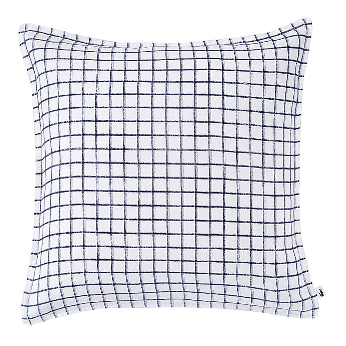Alternate image 1 for Lacoste Chevron Printed Linen Square Throw Pillow in Blue/White