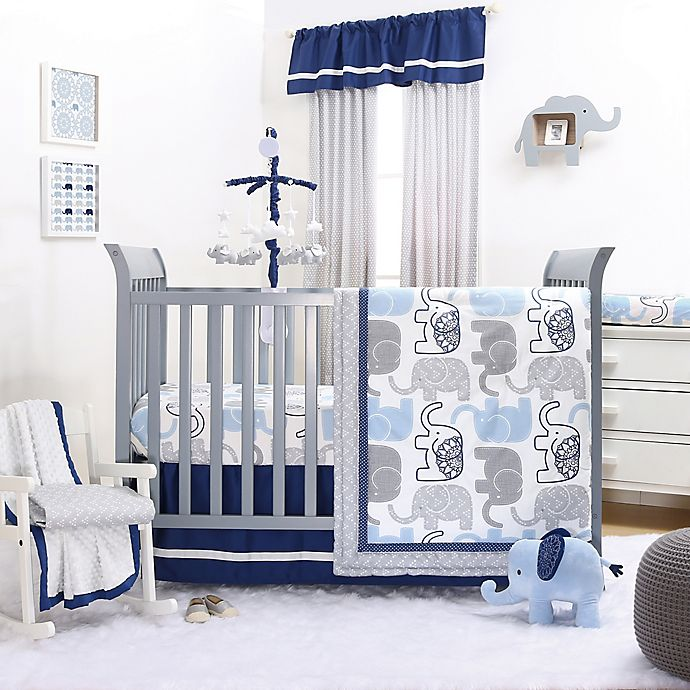 Alternate image 1 for The Peanutshell™ Little Peanut 4-Piece Crib Bedding Set in Navy