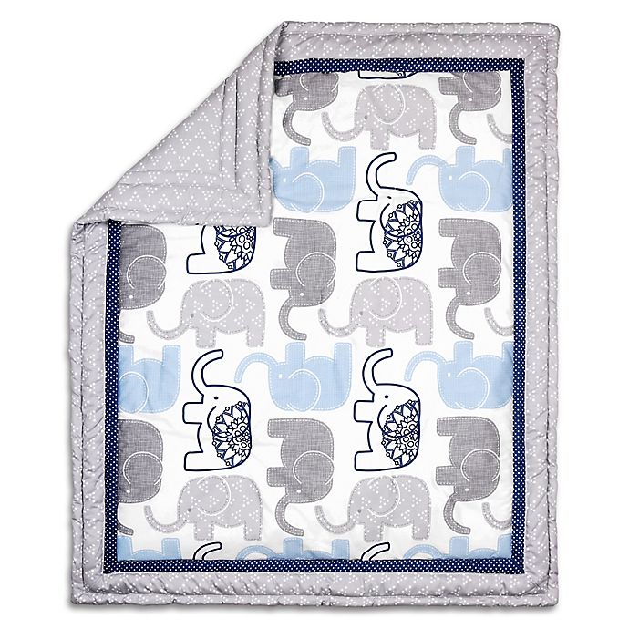 Alternate image 1 for The Peanutshell™ Little Peanut Reversible Quilt in Navy