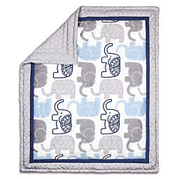 The Peanutshell™ Little Peanut Reversible Quilt in Navy