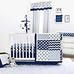 The Peanutshell™ Whale 4-Piece Crib Bedding Set in Navy