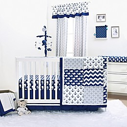 The Peanutshell™ Whale Bedding Collection in Navy