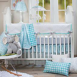 Glenna Jean Willow 4-Piece Crib Bedding Set in Aqua