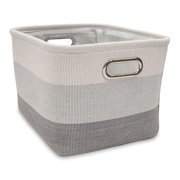 Alternate image 1 for Lambs & Ivy® Ombre Storage Basket in Grey
