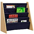 Wildkin Kid's Kai Sling Bookshelf in Natural/Blue