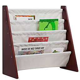 Wildkin Kid's Kai Sling Bookshelf in Cherry/Tan