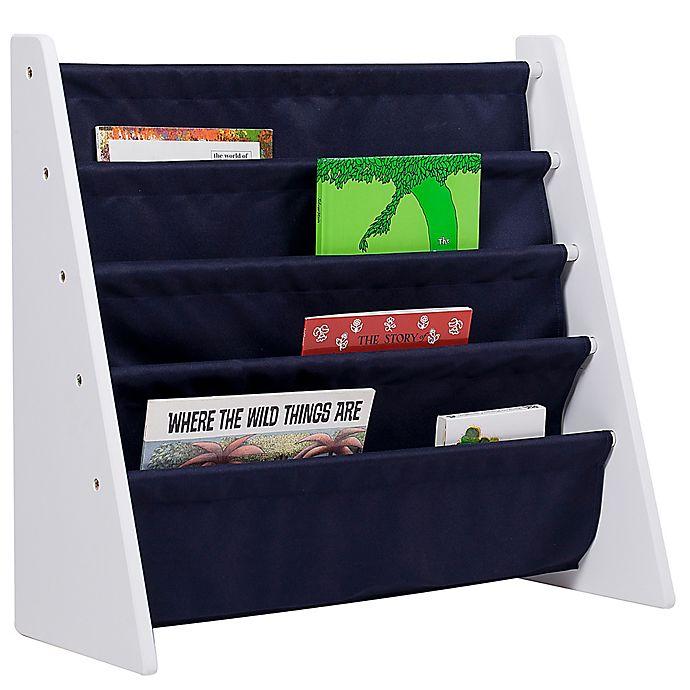 Alternate image 1 for Wildkin Kid's Kai Sling Bookshelf in White/Blue