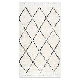 nuLOOM Fez Shag 4' x 6' Area Rug in Natural