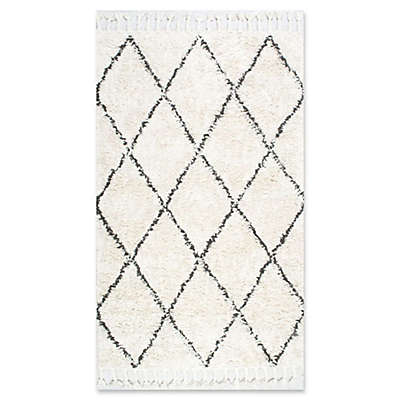 nuLOOM Moroccan Hand Knotted Fez Shag Rug