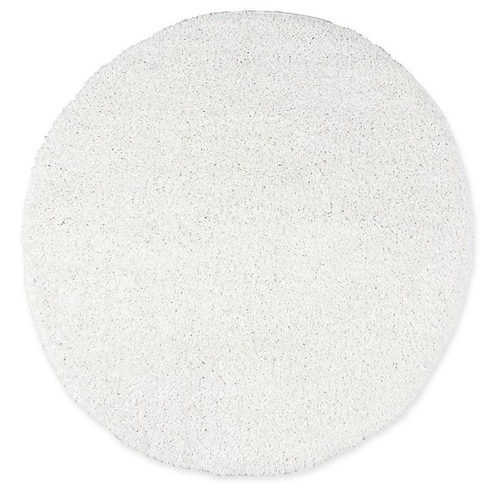 Alternate image 1 for nuLOOM Easy 7-Foot 10-Inch Round Shag Rug in White