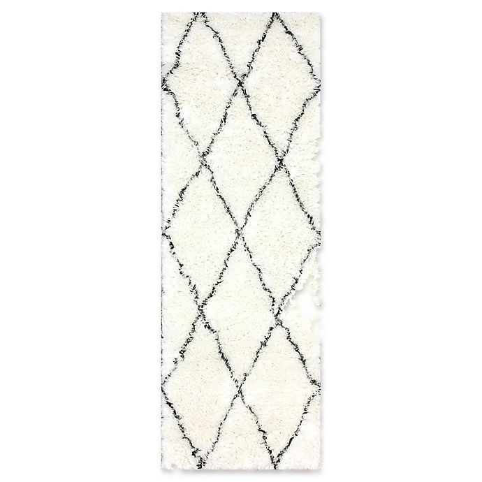 Alternate image 1 for nuLOOM Marrakech Urbanized Handmade 2-Foot 6-Inch x 10-Foot Shag Runner in Ivory