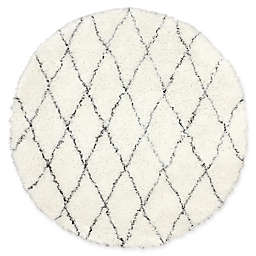 nuLOOM Marrakech Urbanized Handmade 6-Foot Round Shag Area Rug in Ivory