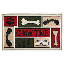 J&M Home Fashions 18-Inch x 30-Inch Chow Time Pet Rug