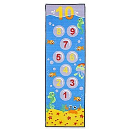 J&M Home Fashions 24-Inch x 76-Inch Hopscotch Underwater Kids Play Rug