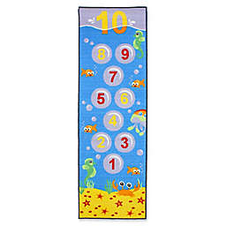 J&M Home Fashions 24-Inch x 76-Inch Hopscotch Underwater Kids Play Rug
