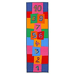 J&M Home Fashions 24-Inch x 76-Inch Hopscotch Kids Play Rug